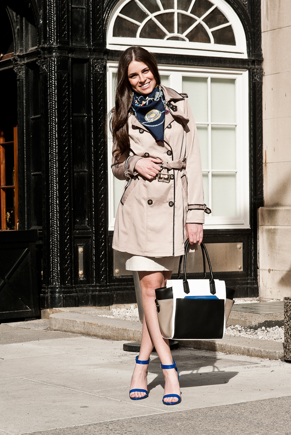 Street Style Erica Wark Amp The Trench Trend Le Chateau Blog
