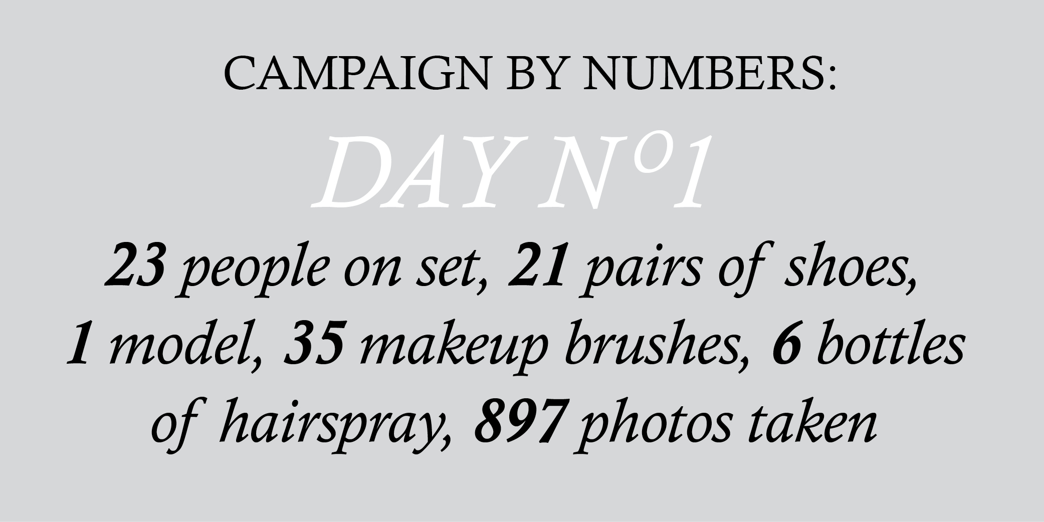 CAMPAIGN BY NUMBERS1
