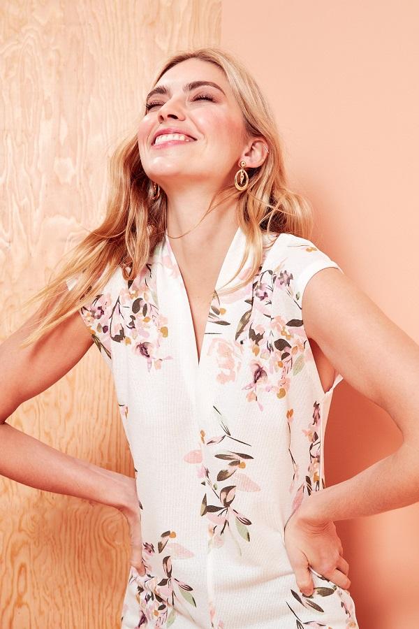 floral v-neck top